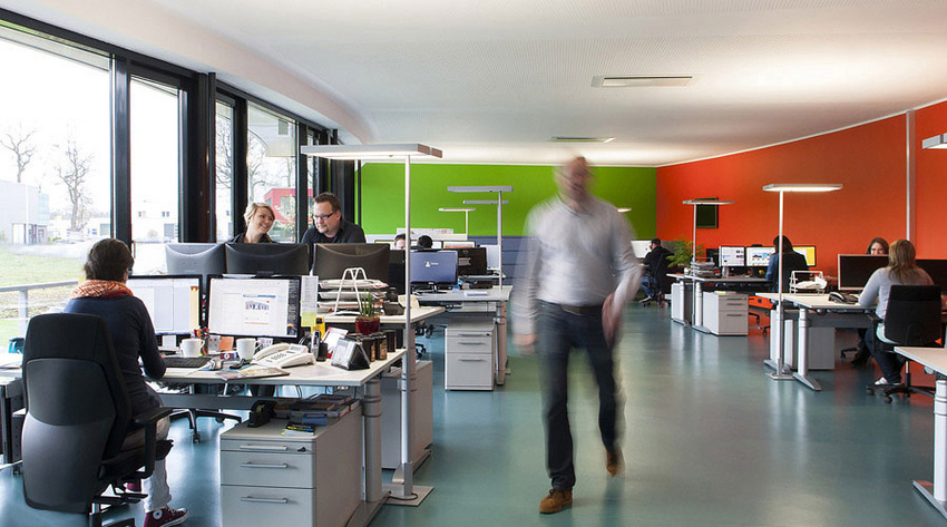 Unser Großraumbüro in Rheine